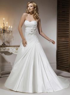 Large View of the Kirstie Bridal Gown -- not sure about the flowers, but I like rest of it