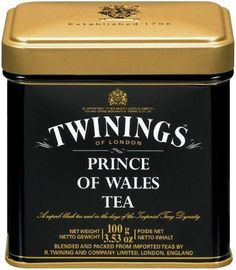 Twinings Prince of Wales Tea - Loose Tea Tins (Pack of 6) is a pure China black tea sourced from regions including the Yunnan province and other southern regions of China. This blend is light in color and has a smooth and mild taste, with a well-rounded character.