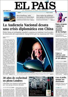 Los Titulares y Portadas de Noticias Destacadas Españolas del 22 de Noviembre de 2013 del Diario El País ¿Que le pareció esta Portada de este Diario Español?