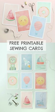 Free printable picture lacing cards for kids. Great for fine motor skills, and so cute!