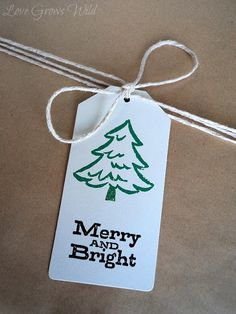 DIY Stamped Gift Tags by Love Grows Wild #christmas #wrapping #diy