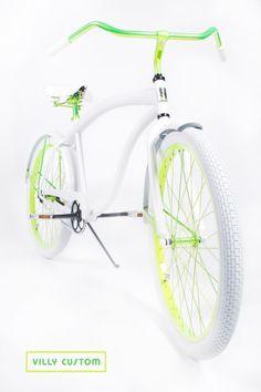 Shocker Yellow Limited Edition Custom Beach Cruiser Bicycle by Villy Custom www.villycustoms.com
