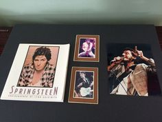 Bruce Springsteen Photographed Lynn Goldsmith W/ Photos & Newspaper Article 1984