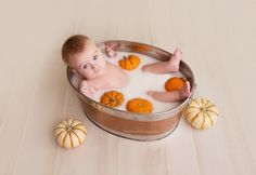 7 month old baby boy pictures photography session with pumpkins. Pumpkin milk bath 7 month old baby boy pictures photography session with pumpkins. Milk Bath Photos, Bath Pictures, Fall Baby Pictures, Baby Boy Photos, 6 Month Baby Picture Ideas Boy, Milk Bath Photography, Baby Boy Photography, Fall Photography, Baby Boys