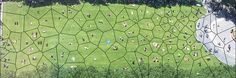 From Rod Bogart, a Voronoi diagram of people sitting in Bryant Park. It's a self-optimizing system to maximize sitting space.