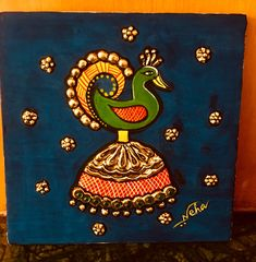 Worli Painting, Kerala Mural Painting, Indian Art Paintings, Madhubani Painting, Fabric Painting, Fabric Paint Designs, Jewelry Design Drawing, Hand Painted Fabric, Madhubani Art