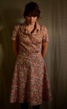 Dress / Vintage Dress / Retro Dress / Dress / Pink / Dress / Summer Dresses for Women / Summer Dress / Cotton Robes Vintage, Vintage Dresses, Vintage Outfits, 1930s Dress, Retro Dress, 1930s Fashion, Vintage Fashion, Taylor Anderson, Summer Dresses For Women