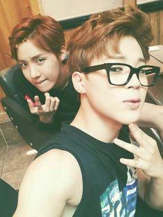 Park Jimin and Jhope / Jung Hoseok of BTS / Bangtan Boys