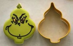 Grinch cookie using Christmas ornament cutter