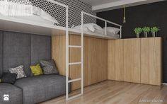 mieszkanie w Knurowie 2 Room, Kids Room Design, Bedroom Design, Home Decor, Kids Interior, Minimalist Bedroom, Teenage Room, Bed, Trendy Bedroom