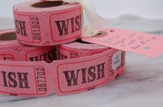 Wish Tickets by Hunter Gatherer