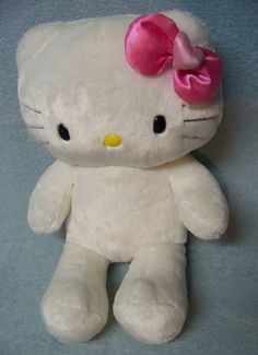"""Build A Bear Workshop BABW Hello Kitty Whtie with Pink Bow 17"""" Plush  #BuildABearWorkshop"""