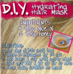 DIY Hair Mask. This will be me.