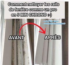 L'astuce simplissime pour nettoyer les rails de fenêtres.