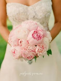 pale pink peonies bouquet