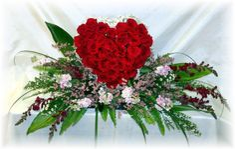 Best Heart Shaped Flowers For Funeral By Flowersandsympathy Com Grave Flowers, Cemetery Flowers, Casket Flowers, Funeral Floral Arrangements, Church Flower Arrangements, Funeral Bouquet, Funeral Flowers, Flower Vases, Flower Pots