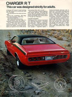 1971 Dodge Charger vintage print advertisement