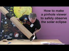 How to make a pinhole viewer to safely observe the solar eclipse - YouTube