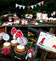 Party for kids. Fiesta infantil Caperucita Roja. www.amamillo.com From decopeques.com
