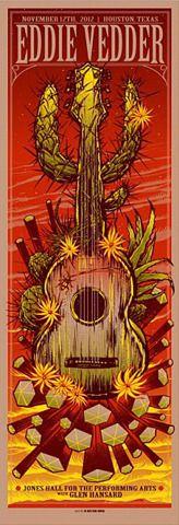 Eddie Vedder Solo Tour  Houston TX 11/12/12
