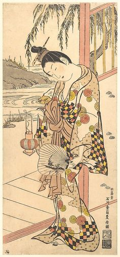 Ishikawa Toyonobu (Japanese, 1711–1785). Young Lady in Summer Attire, ca. 1748. Japan; Edo period (1615–1868). The Metropolitan Museum of Art, New York. Harris Brisbane Dick Fund and Rogers Fund, 1949 (JP3109)