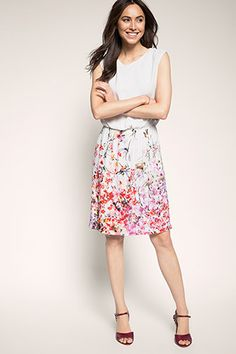 Watercolour floral print dress Casual Dresses, Summer Dresses, Floral Watercolor, Watercolour, Midi Skirt, Floral Prints, Skirts, Pink, Clothes