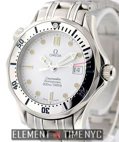 #Omega #Seamaster 300M 36mm iN Stainless Steel With A White Dial (2562.20.00)