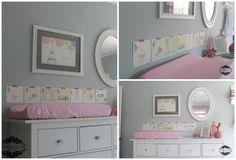 babyroom: gray and pink!