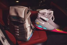 HYPEBEAST Giveaway: COMBACK to the Future Backpack: Just in time for the official release of the legendary sneakers. Nike Air Mag, Air Jordan Retro, Marty Mcfly, Grills Teeth, Bttf, Dream Shoes, Hypebeast, Air Jordans, Swag