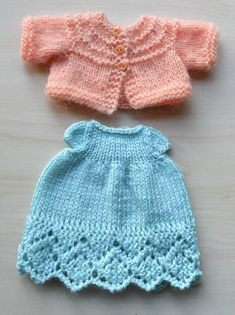 Knit Doll Clothes Set Knitted 12 11 10 Inch Doll Toy Outfit for Stuff Toy Doll Clothing Dress Cardigan for Soft Toy Easter Present Baby Doll Clothes, Crochet Doll Clothes, Knitted Dolls, Doll Clothes Patterns, Doll Patterns, Clothing Patterns, Julie Williams, Dress With Cardigan, Cardigan Pattern
