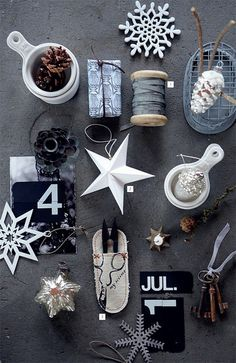Christmas in black, white & grey | the style files, via Flickr