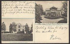 Postkort J. L. Tiedemanns tobakksfabr., Charlottenberg. tidlig 1900-tall. nyttårshilsen fra Halvor. Han bor i disponentvillan.