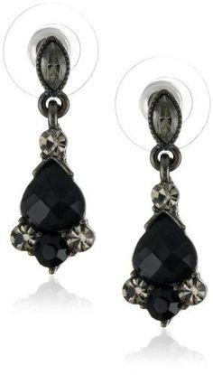 #blackdiamondgem 1928 Jewelry Vintage-Inspired Black Crystal Drop Earringsby 1928 Jewelry - See more at: http://blackdiamondgemstone.com/jewelry/earrings/drop-dangle/1928-jewelry-vintageinspired-black-crystal-drop-earrings-com/#sthash.EEweozny.dpuf