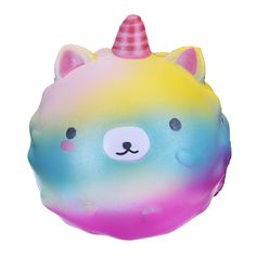 Soft Slow Rising Rainbow Squishy Unicorn Kawaii Phone Straps Pendant Kids Toy Gift