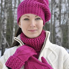 OHJE: Pitsilehti-asusteet Diy Accessories, Decorative Accessories, Knitted Hats, Crochet Hats, Leg Warmers, Mittens, Diy And Crafts, Winter Hats, Knitting