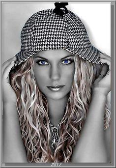 22 mejores imágenes de Mujer con sombrero 645d4520150