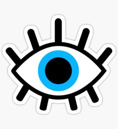 """""""magic eye"""" Stickers by emably Stickers Cool, Eye Stickers, Tumblr Stickers, Printable Stickers, Laptop Stickers, Planner Stickers, Evil Eye Art, Realistic Eye Drawing, Drawing Eyes"""