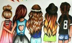 I and my bff best friend drawings, bff drawings, amazing drawings, beautifu