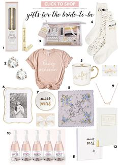 Welcome to the Ultimate Holiday Gift Guide! Here you can find a roundup of the best gifts for everyone on your list this season at the price you're looking for. You can shop any image just by clicking it on… Best Gift For Bride, Best Friend Wedding Gifts, Wedding Gifts For Bride, Best Friend Gifts, Bride Gifts, Engagement Gifts For Bride, Bridal Shower Gifts For Bride, Engagement Rings, Engagement Gift Baskets