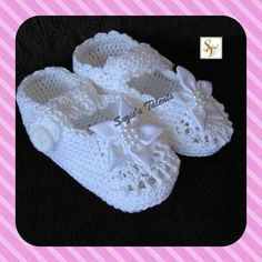 ORIGINAL DESIGNER  Baby Christening Shoes Crochet by SuziesTalents, $35.00