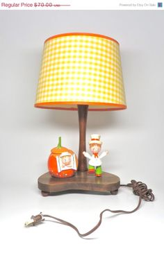 Vintage Lamp Nursery Originals Nite Lite Music Box by hensfeathers, $49.00
