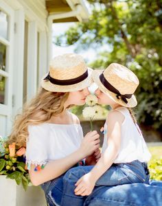 Country Blue, Cute Hats, Mother And Child, Life Is Beautiful, Bikini Girls, Green And Grey, Panama Hat, Blue Denim, Blues