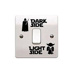 """Star-Wars-Aufkleber """"Dark Side – Light Side"""" für Lichtschalter, Kinderzimmer"""