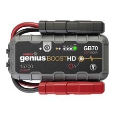 Battery Jump Starter Portable Compact Booster LED Light USB Power Pack 2000 Amps for sale online