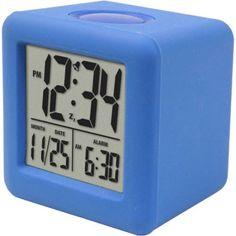 Equity By La Crosse Cube Lcd Alarm Clock Blue