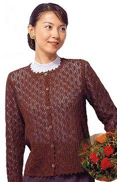 Ravelry: 20-21-19 Long-sleeve Lace Cardigan pattern by Pierrot (Gosyo Co., Ltd)