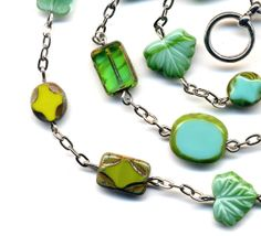 Turquoise green Necklace New Turquoise Romance  Rare by Annaart72, $36.00