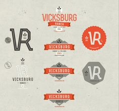 Kitchen Sink Studios | Vicksburg Ranch Logos