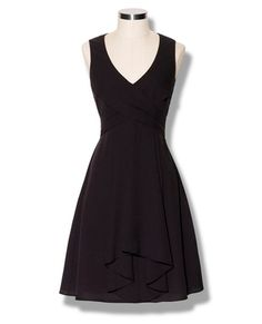 Vince Camuto, pleated v-neck dress with bow in back. $118