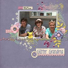 Glitter Mama using Down This Road Designs Shine (at Scrap Orchard) with  DTRD Happy Skies Cluster